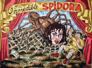 Carnival of Chaos, Steve Stones, Spider, human spider, freak show, carnival