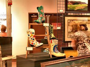 Cowboy boots, wonder bread, union station, art, ogden, artist, Steve Stones