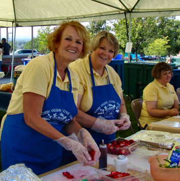 The North Ogden Civic League letting bygones be bygones at the 2012 North Ogden Art & Food Festival.