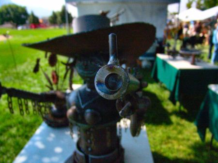 Sculpted by Idaho Sculptor at the 2012 North Ogden Art & Food Festival.