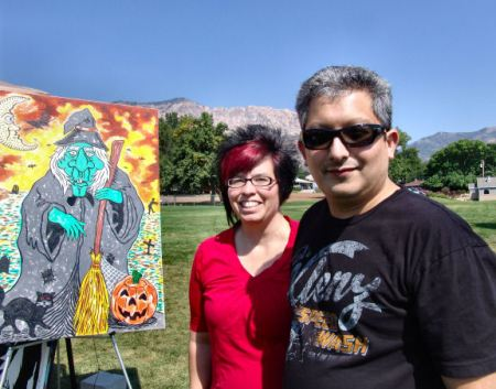 Liz Lowe and Nick Garcia at the North Ogden Arts & Food Festival 2012
