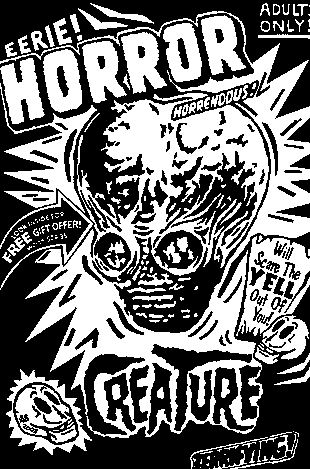 Eerie Horror Creature by Ogden Utah Artist STeve STones