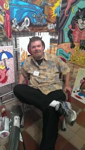 Ogden Artist Steve Stones was photographed by Mojos' own Ron Atencio at the Ogden Arts Festival