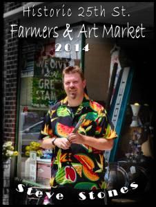 Steve Stones Art at the Ogden Farmers and Art Market, sock monkey'n around, mike hurst, hursts handblown glass