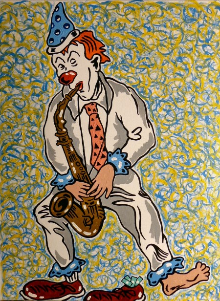 Steve Stones Clown Sax Player
